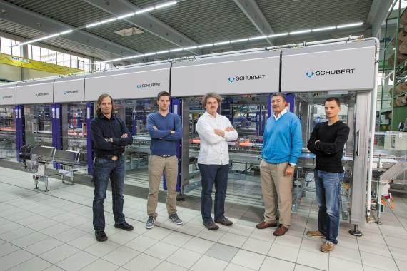 The image processing team today (from left to right): Simon Baumann, Daniel Greb, Wolfram Strempfer, Abdelmalek Nasraoui, Jürgen Lipp.