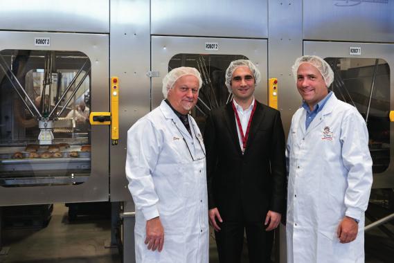 (L to R): Serge Bohec, President & CEO, La Petite Bretonne Inc.; Olivir Jouffret, End-user Solutions Sales Representative, Schneider Electric; Charles Bergeron-Vachon, Vice-president, Operations, La Petite Bretonne.