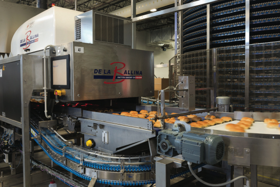 To ensure product conformity, after baking and cooling, chocolate buns at La Petite Bretonne are moved through a laser vision inspection system designed and built by the France-situated manufacturer De La Ballina, part of Pattyn Packing Lines of Belgium.