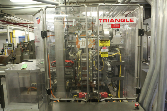 A Triangle Package Machinery cartoner at the Post Foods facility in Niagara Falls.