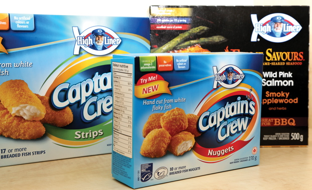 Packed in litho-printed paperboard cartons produced by Graphic Packaging in Montreal, the new Captain Crew strips and nuggets clearly aim at the young-age demographics.