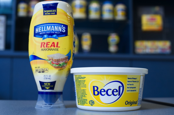 Both produced at Rexdale, Hellmann's mayo and Becel margarine are Number One topselling brands in their respective product categories in the Canadian market.