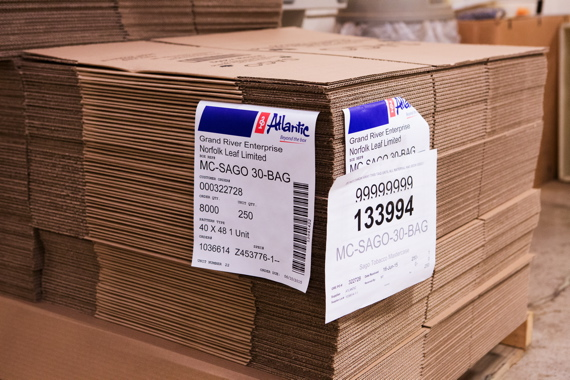 Atlantic Packaging Products supplies Grand River Enterprises with all its corrugated shipping cases.