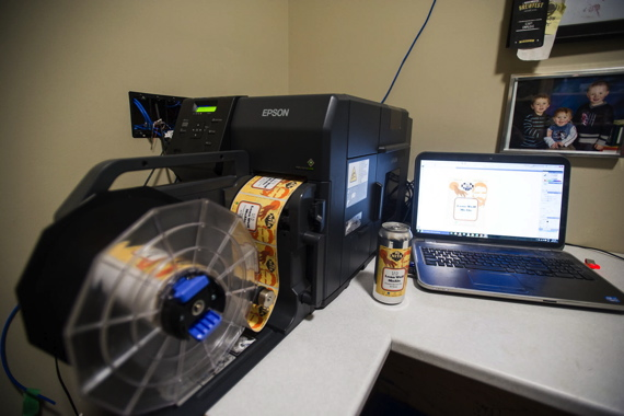 Purchased via DuraFast Label Company, Nita Beer uses the Epson TM-C7500G label printer to print high-quality short-run labels for its canned beers.