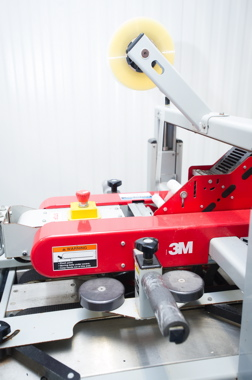 The speed and accuracy of the 3M-Matic adhesive tape case-sealing system, manufactured by 3M Company, helps John O's Foods avoid unnecessary end-of-line bottlenecks.