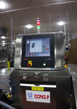 Unilever employs a Thermo Scientific brand X-Ray inspection system for its product inspection on its Rollo brand production line.