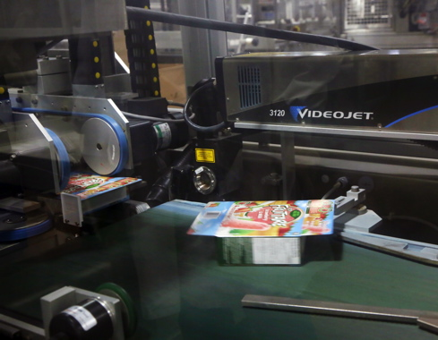 Videojet laser coders are used by Unilever at its Simcoe facility to apply best-before data on primary packages, such as the box of Fruttare frozen fruit bars.