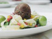 Memphis Meats lab-grown meat meatball. You Tube/Memphis Meats Inc.