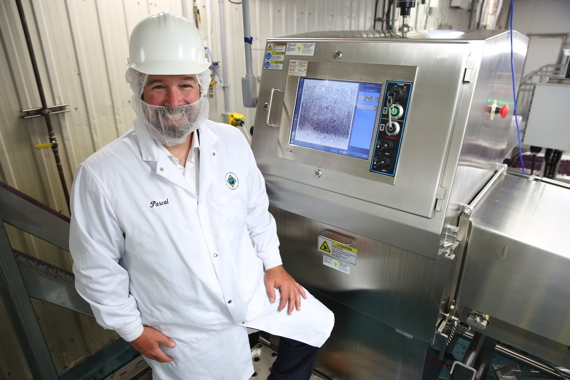 Quebec Wild Blueberries director of operations Pascal Hudon is very impressed with the high-accuracy product inspection delivered by the new Pack 400 HC X-Ray system, made by Eagle Product Inspection and distributed in Canada by PLAN Automation, at the Saint-Bruno facility.