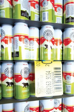 The Cameron's brewery in Oakville uses the direct-printed aluminum cans shipped in bulk from a Crown Beverage Company plant in Batesville, Miss., to package its three core flagship brands, including its topselling Ambear Red Ale brand of West Coast-style ale made with caramel malt and Cascade mountain hops to achieve distinctive depth and aroma.