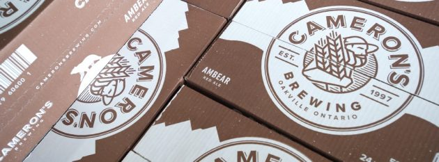 The Cameron's plant uses high-strength pre-printed corrugated boxes supplied by Shipmaster Containerboard for packing the 24-can cases of beer retailed throughout Ontario at The Beer Store outlets.