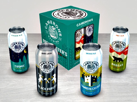 The Brewmaster's Selection four-packs are packaged in high-strength preprinted paperboard boxes supplied by Shipmaster Containerboard.