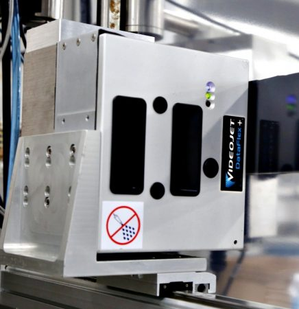 Installed on top of the Ajax plant's new iSeries thermoformer, a Videojet DataFlex Plus industrial thermal-transfer overprinter is used to generate high-gloss, high-resolution images on top of the flexible films and labels applied to the processed vacuum-packs.