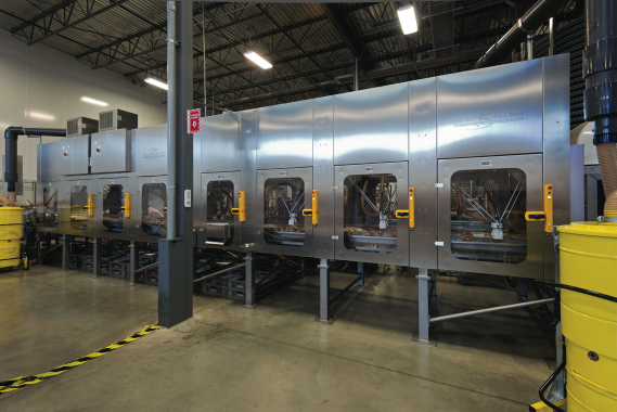 Utilizing the precise and robust Schneider Electric pick-and-place robotic system, the De La Ballina packaging line was purchased by the La Petite Bretonne bakery in October of 2013, instantly earning it company-wide rave reviews for the huge uptick in speed and accuracy that will help it in its goal to enlarge its market share.
