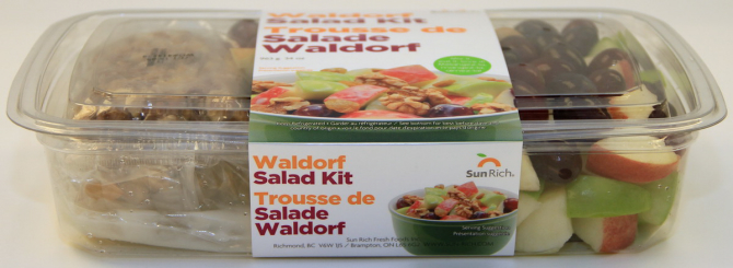 Costco 34oz Waldorf Salad Kit - Front side view - Canadian