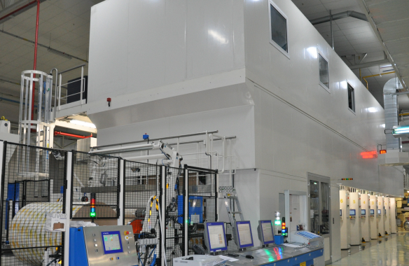 New printer at the Tetra Pak packaging material facility in Izmir.