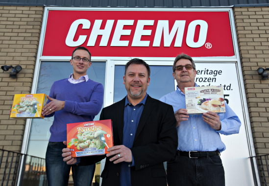 From left: Heritage Frozen Foods assistant production manager Derek Krausher, president and chief executive officer Joe Makowecki, and operations manager Casey Marchand.