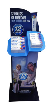 Fast & Effective temporary display from Menasha Packaging.