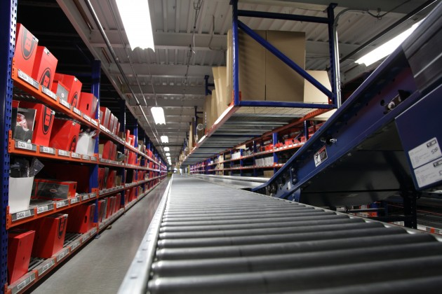 The DC is equipped with two miles of automated conveyor.