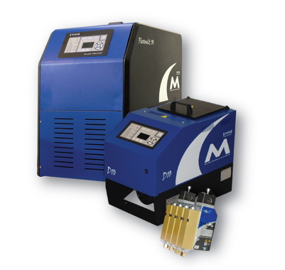 The all-electric CHOICE hot-melt applicating systems. manufactured by Valco Melton is designed as a much more energy-efficient alternative to pneumatic-based systems.