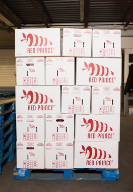 Binkley Apples utilizes corrugated cartons, manufactured by Moore Packaging, placed atop the signature blue pallets from CHEP for delivery to customers coast-to-coast in Canada as well as the U.S.