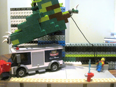 A LEGO diorama built by Andrew Joseph showing the going green can be difficult for all involved.