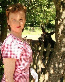 Wartime Farm BBC sack dress
