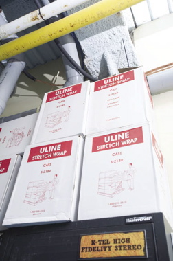 With distribution across North America, ULine's Toronto office supplies Flying Monkeys with all its stretchwrap needs to safely secure kegs and bottle packs to pallets.