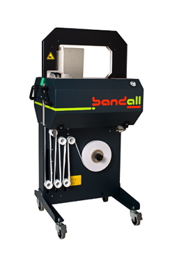 The Bandall, a standalone banding machine from Banding Systems.