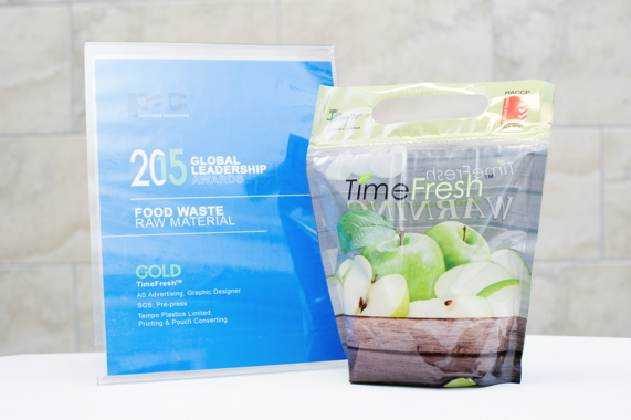 Citing an opportunity to reduce food waste, Tempo Plastics created the TimeFresh stand-up bag for the freshcut and whole foods markets to maximize freshness and shelflife.