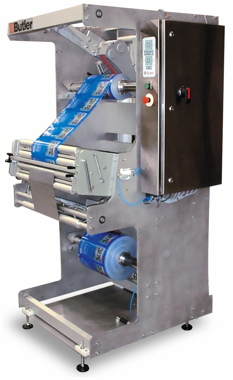 Butler Automatic's splicers eliminate roll change downtime, increasing throughput dramatically, particularly in pre-applied zipper applications.