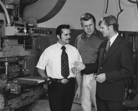 (From left) Horst Dorner, Werner Dorner, Wolfgang Dorner.