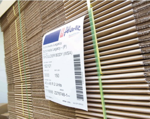 Flats of corrugated cartons manufactured by Atlantic Packaging are used by the Schinkel's Legacy plant to ship its finished products to the company's southwestern Ontario retail customers.