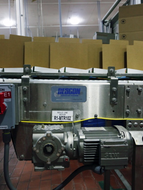 Descon conveyors are powered by the smooth efficiency of SEWEurodrive motors to help move product through the multiple production lines housed at the Simcoe facility.