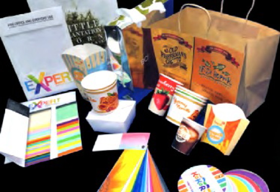 A sampling of the varied range of APP paper products and packaging made with the multilayer papermaking process for customers worldwide.